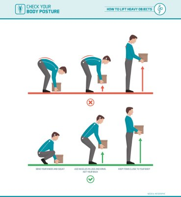 how to lift boxes safely
